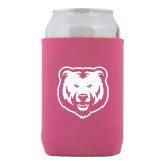 Neoprene Hot Pink Can Holder-UNC Bear Logo