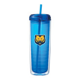 Mega Vortex Blue Double Wall Tumbler 24oz-UNC Bear Logo