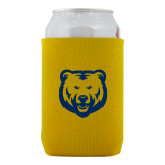 Neoprene Gold Can Holder-UNC Bear Logo