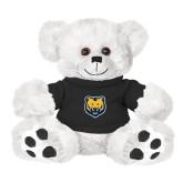 Plush Big Paw 8 1/2 inch White Bear w/Black Shirt-UNC Bear Logo