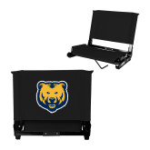 Stadium Chair Black-UNC Bear Logo