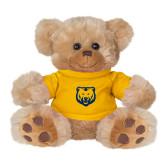 Plush Big Paw 8 1/2 inch Brown Bear w/Gold Shirt-UNC Bear Logo