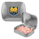 Silver Rectangular Peppermint Tin-UNC Bear Logo