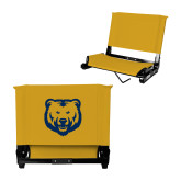 Stadium Chair Gold-UNC Bear Logo