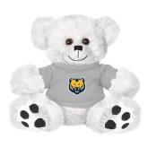 Plush Big Paw 8 1/2 inch White Bear w/Grey Shirt-UNC Bear Logo