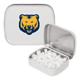White Rectangular Peppermint Tin-UNC Bear Logo