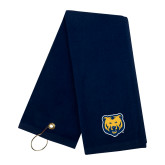Navy Golf Towel-UNC Bear Logo