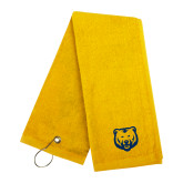 Gold Golf Towel-UNC Bear Logo