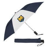 42 Inch Slim Stick Navy/White Vented Umbrella-UNC Bear Logo