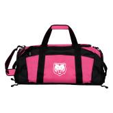Tropical Pink Gym Bag-UNC Bear Logo