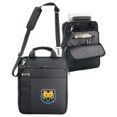 Kenneth Cole Black Vertical Checkpoint Friendly Messenger-UNC Bear Logo