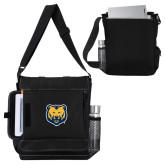 Impact Vertical Black Computer Messenger Bag-UNC Bear Logo