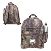 Heritage Supply Camo Computer Backpack-UNC Bear Logo