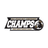 Small Decal-2017 Peach Belt Conference Mens Outdoor Track and Field