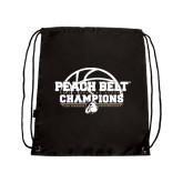 Black Drawstring Backpack-Peach Belt Champions