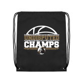 Black Drawstring Backpack-Peach Belt Undisputed Basketball Champs