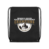 Black Drawstring Backpack-2017 Peach Belt Conference Womens Soccer