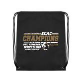 Black Drawstring Backpack-ECAC Wrestling Champions