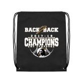 Black Drawstring Backpack-Back 2 Back Regular Season Champions