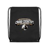 Black Drawstring Backpack-2018 Peach Belt Cross Country Champions