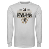 White Long Sleeve T Shirt-2017 Peach Belt Conference Mens Outdoor Track and Field