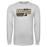 White Long Sleeve T Shirt-ECAC Wrestling Champions