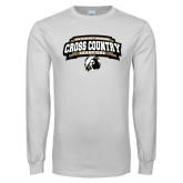 White Long Sleeve T Shirt-2018 Peach Belt Cross Country Champions