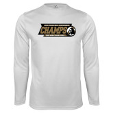 Syntrel Performance White Longsleeve Shirt-2017 Peach Belt Conference Mens Outdoor Track and Field