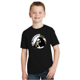 Youth Black T Shirt-Primary Mark