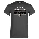 Charcoal T Shirt-Peach Belt Undisputed Basketball Champs