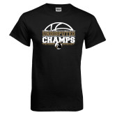 Black T Shirt-Peach Belt Undisputed Basketball Champs