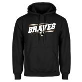 Black Fleece Hoodie-Braves Fancy Lines