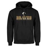 Black Fleece Hoodie-Braves Stacked