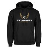 Black Fleece Hoodie-Track and Field Wings