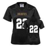 Ladies Black Replica Football Jersey-#22
