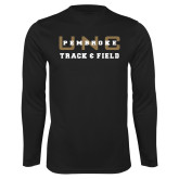 Performance Black Longsleeve Shirt-Track and Field