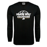 Black Long Sleeve T Shirt-Peach Belt Champions