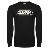 Black Long Sleeve T Shirt-2017 Peach Belt Conference Mens Outdoor Track and Field