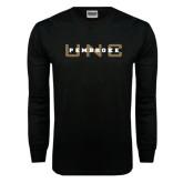 Black Long Sleeve TShirt-UNC Pembroke
