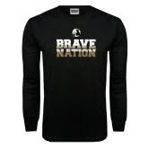 Black Long Sleeve TShirt-Brave Nation