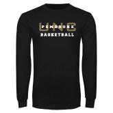 Black Long Sleeve TShirt-Basketball