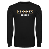 Black Long Sleeve TShirt-Soccer