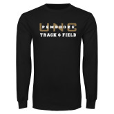 Black Long Sleeve TShirt-Track and Field