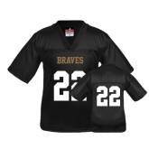 Youth Replica Black Football Jersey-#22