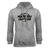 Grey Fleece Hoodie-Peach Belt Champions