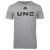Adidas Sport Grey Logo T Shirt-UNC Pembroke