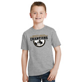 Youth Grey T Shirt-2017 Peach Belt Conference Womens Soccer