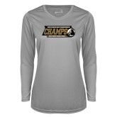 Ladies Syntrel Performance Platinum Longsleeve Shirt-2017 Peach Belt Conference Mens Outdoor Track and Field