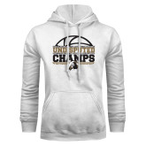 White Fleece Hoodie-Peach Belt Undisputed Basketball Champs