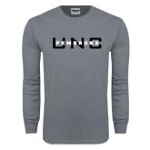 Charcoal Long Sleeve T Shirt-UNC Pembroke